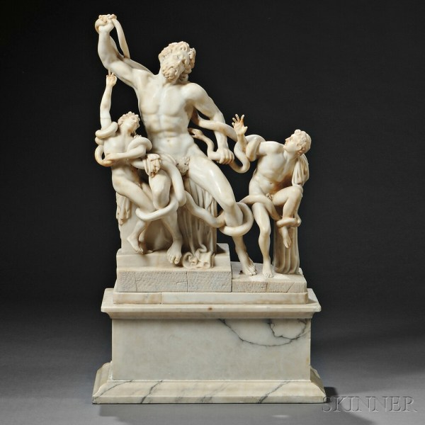 Italian School Late 19th Early 20th Century Alabaster