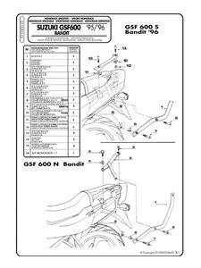 Sklep: givi stelaże pod kufry boczne monokey do suzuki gsf