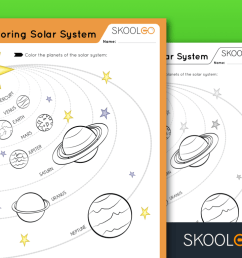 Exploring The Solar System - Free Worksheet for Kids by SKOOLGO.com [ 768 x 1024 Pixel ]