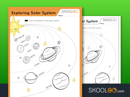 small resolution of Exploring The Solar System - Free Worksheet for Kids by SKOOLGO.com