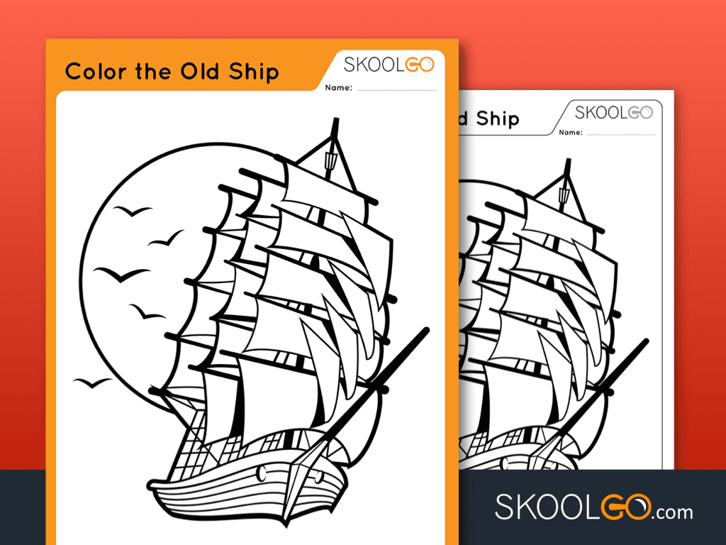 Color The Old Ship