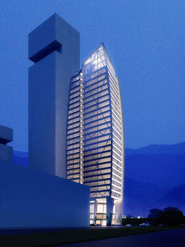 五矿金融华南大厦 摩天大楼中心