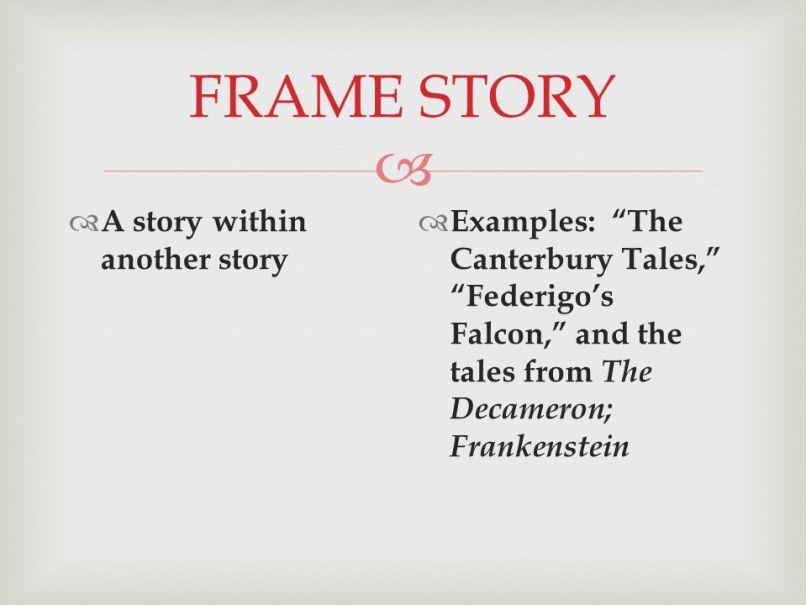 Atemberaubend Frame Story Examples Bilder - Bilderrahmen Ideen ...