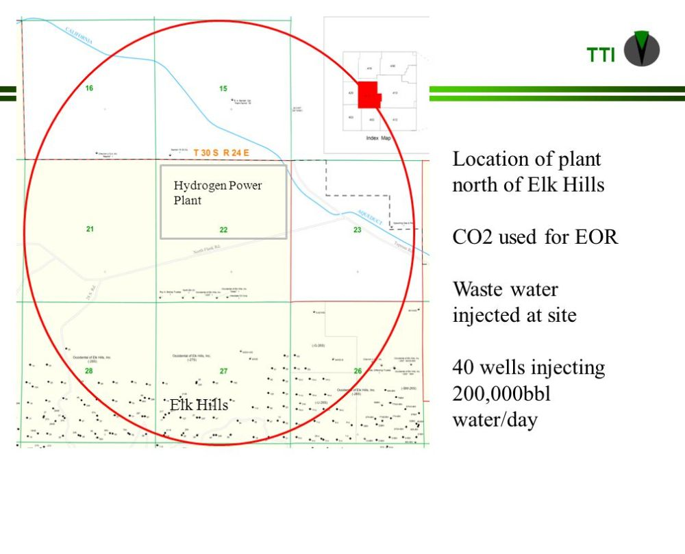 medium resolution of 18 tti co2 sequestration in geologic formations hydrogen power plant elk hills location of plant north of elk hills co2 used for eor waste water injected at