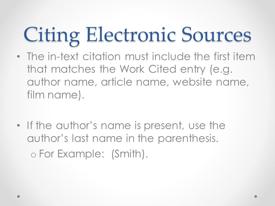 Apa Format In Text Citation For Internet Sources Cover