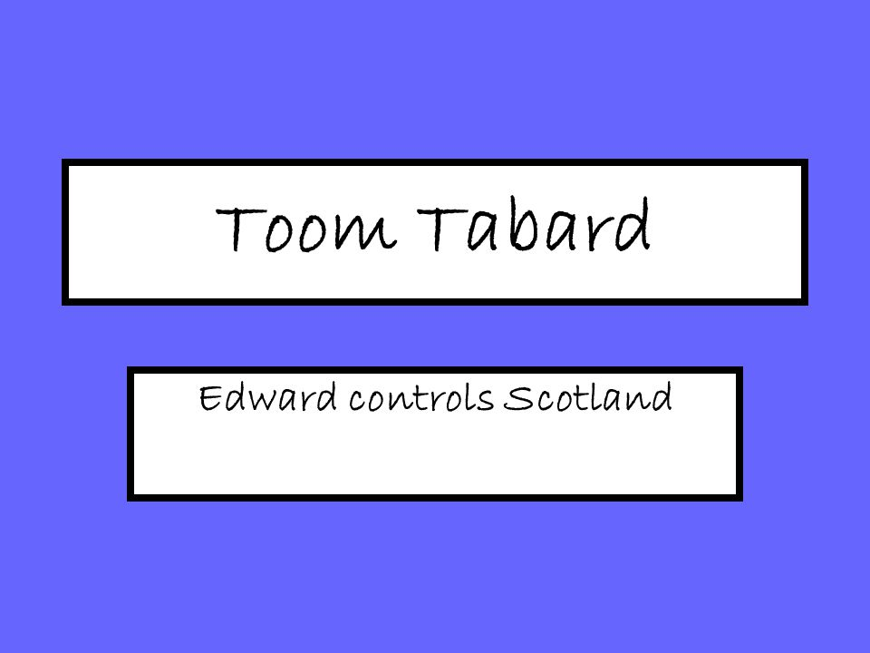 toom tabard edward controls