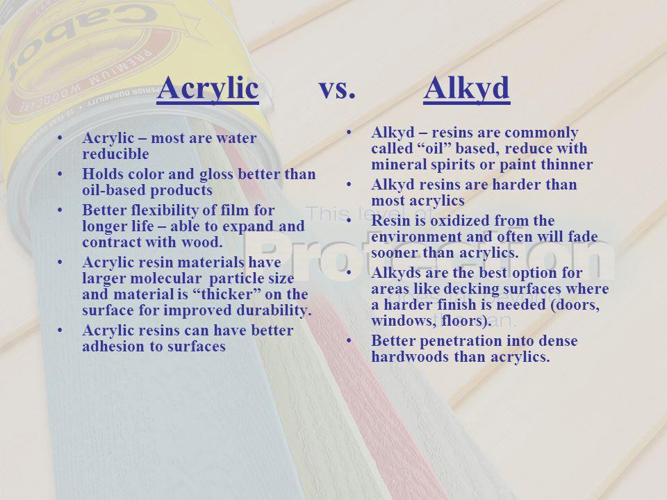 Alkyd Vs Acrylic