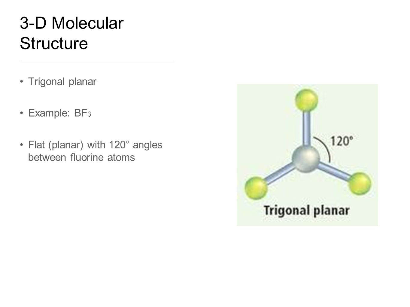hight resolution of 4 3 d molecular structure trigonal planar example bf 3 flat planar with 120 angles between fluorine atoms