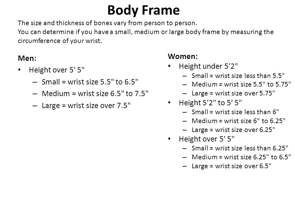 How To Tell If You Have A Large Body Frame   Siteframes.co