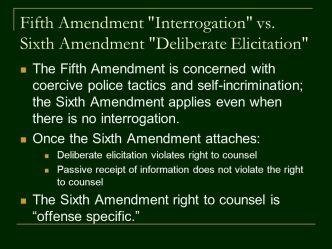 the fifth and sixth amendments