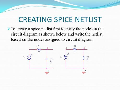 small resolution of 20 creating spice netlist to create a spice netlist first identify the nodes in the circuit diagram as shown below and write the netlist based on the