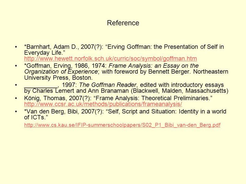 Erving Goffman Framing Pdf | Frameswalls.org