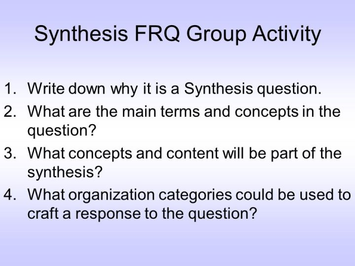 heres an example of a source from the 2014 ap english synthesis frq - Ap Synthesis Essay Example