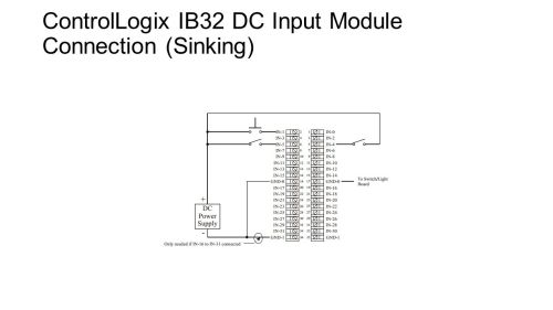 small resolution of 2 controllogix ib32 dc input module connection sinking