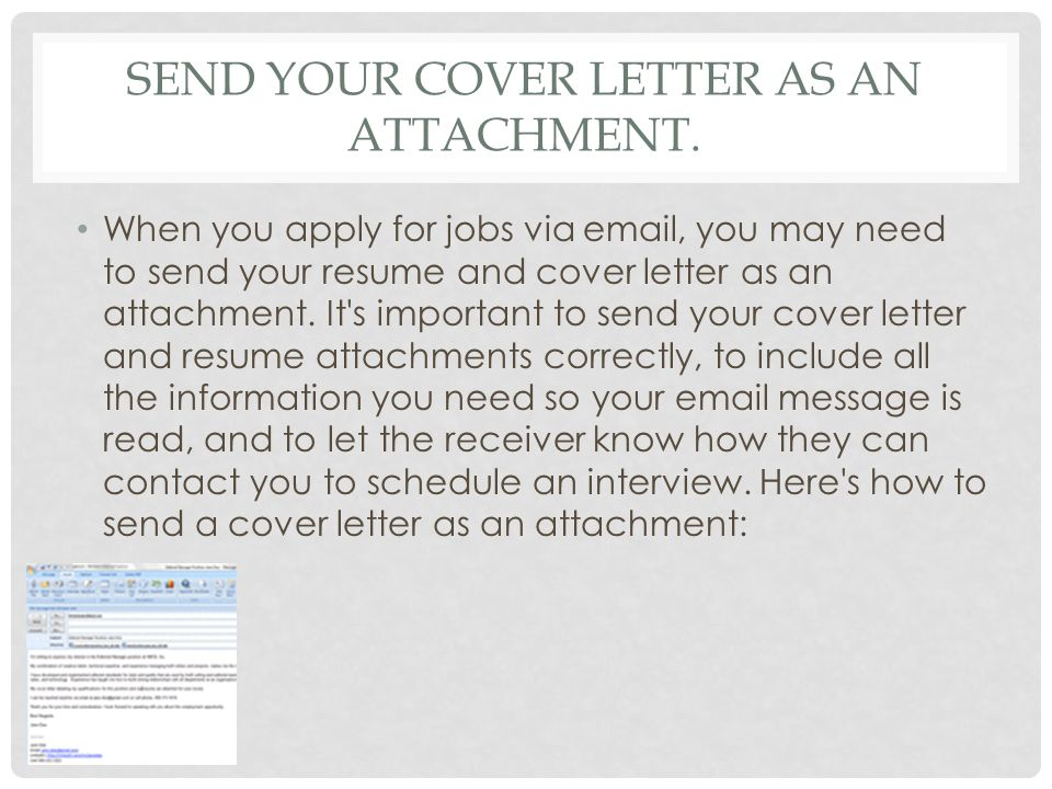 Email cover letter for job application via email – Email Cover Letter