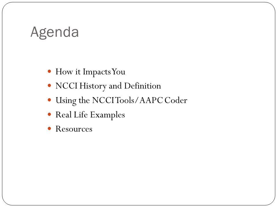 Presented by Lori Dafoe, CPC How to Use The National Correct Coding ...