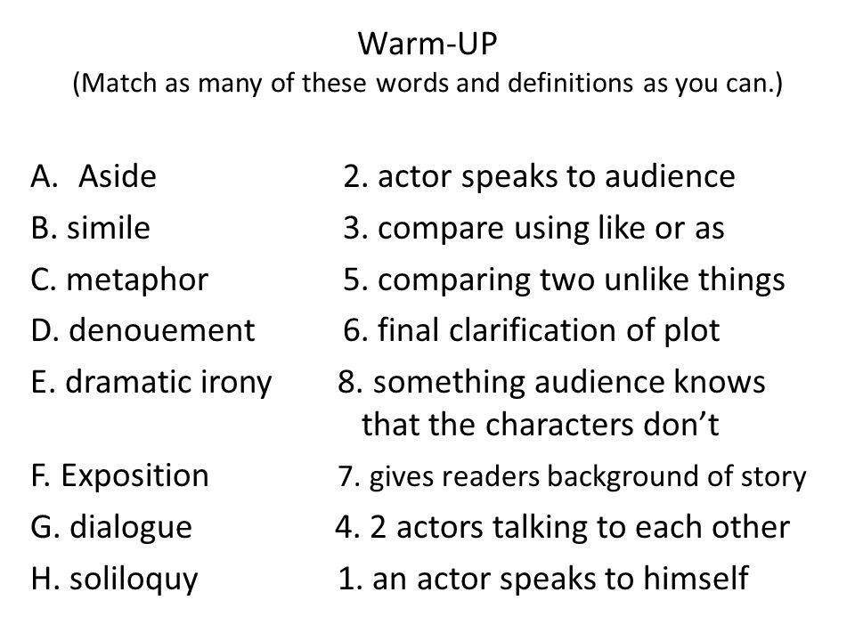 warm up match as