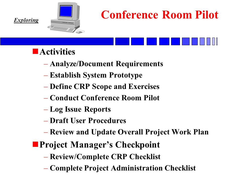 The size of the conference room in regard to the estimated number of attendees. N A Managed Approach To Planning And Controlling The Implementation Of Complex Application Software N A Flexible Tool Kit Designed To Support The Project Ppt Download
