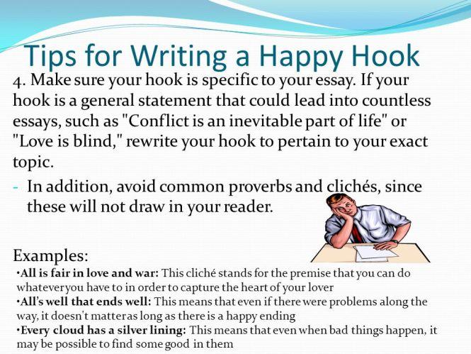 good hook for essay