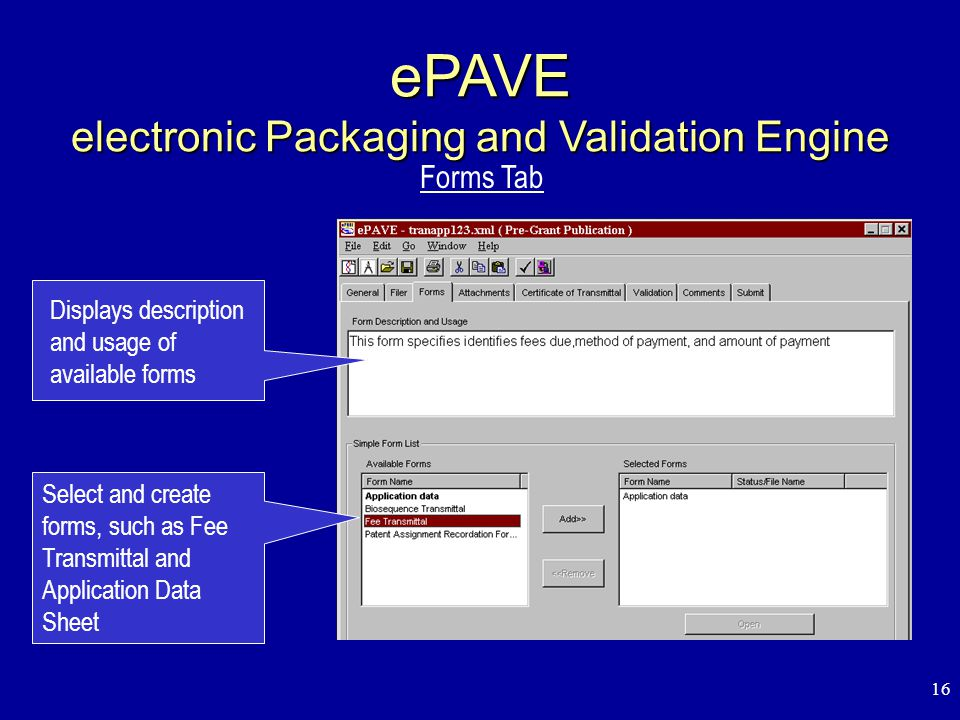 1 Electronic Filing System United States Patent and Trademark Office ...