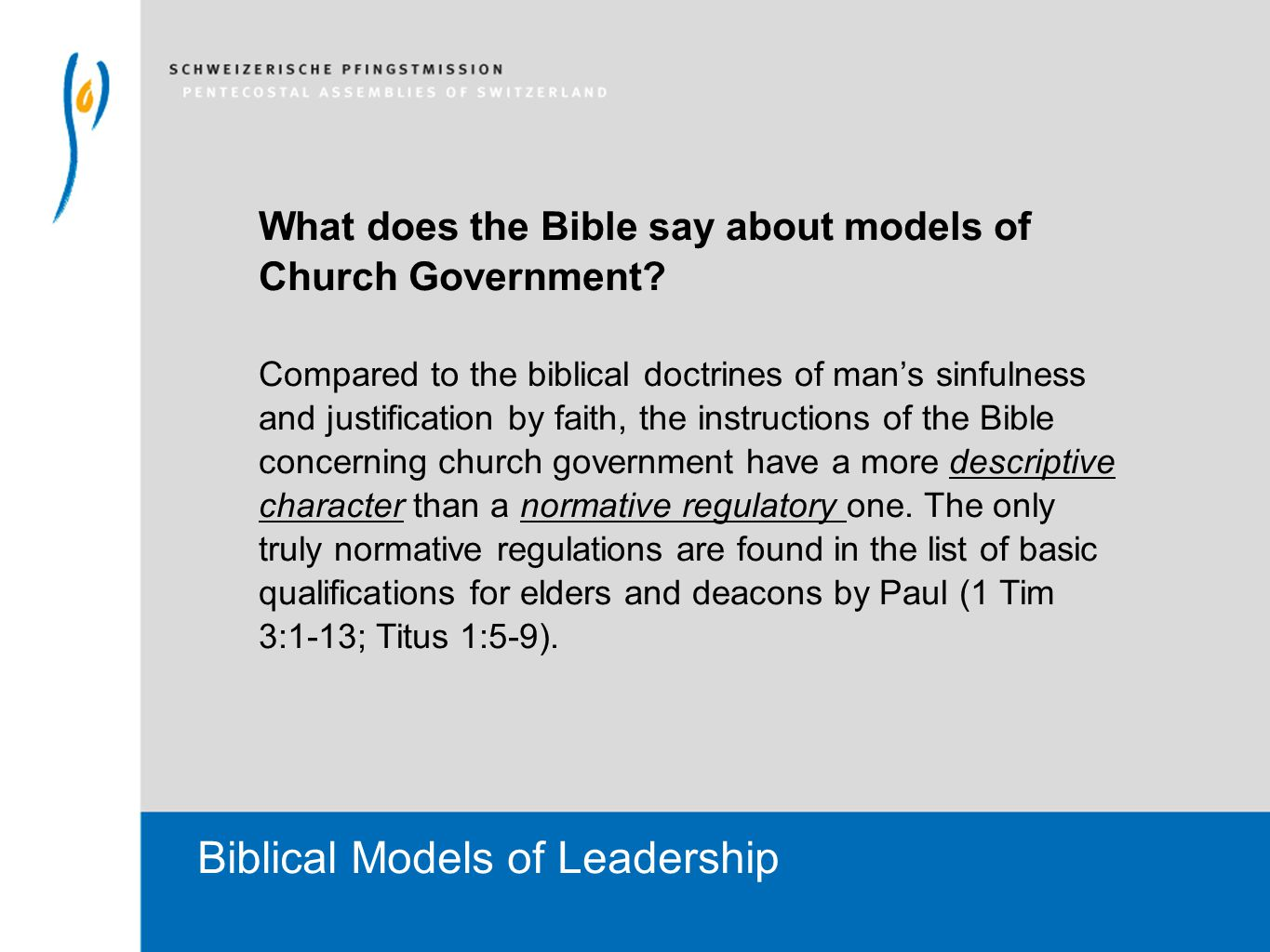 Welcoms You Biblical Models Of Leadership Church Government Models
