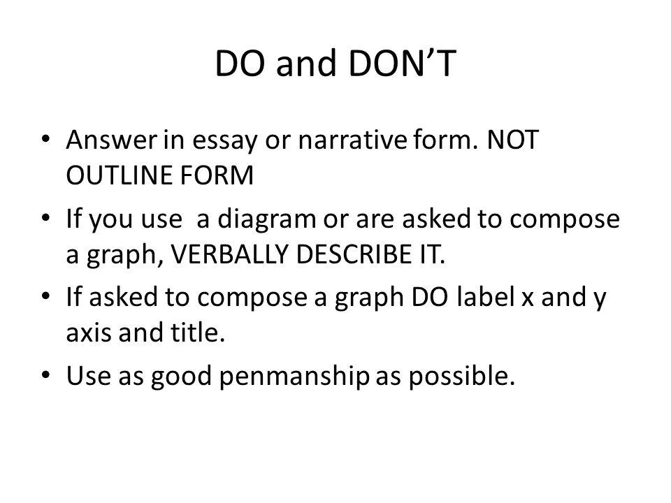 entrance essay format
