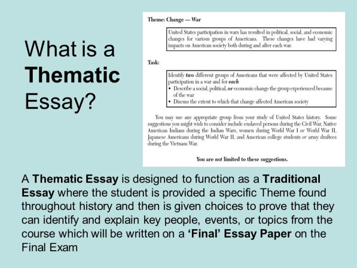 Thematic essay for global regents