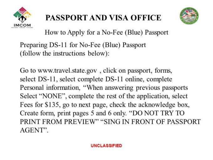 Travel State Gov Passport Application Ds 11 Distination