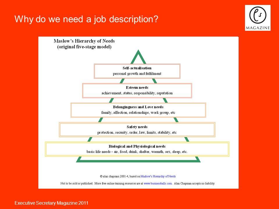 Executive Secretary Magazine 2011 Job descriptions for enhanced ...