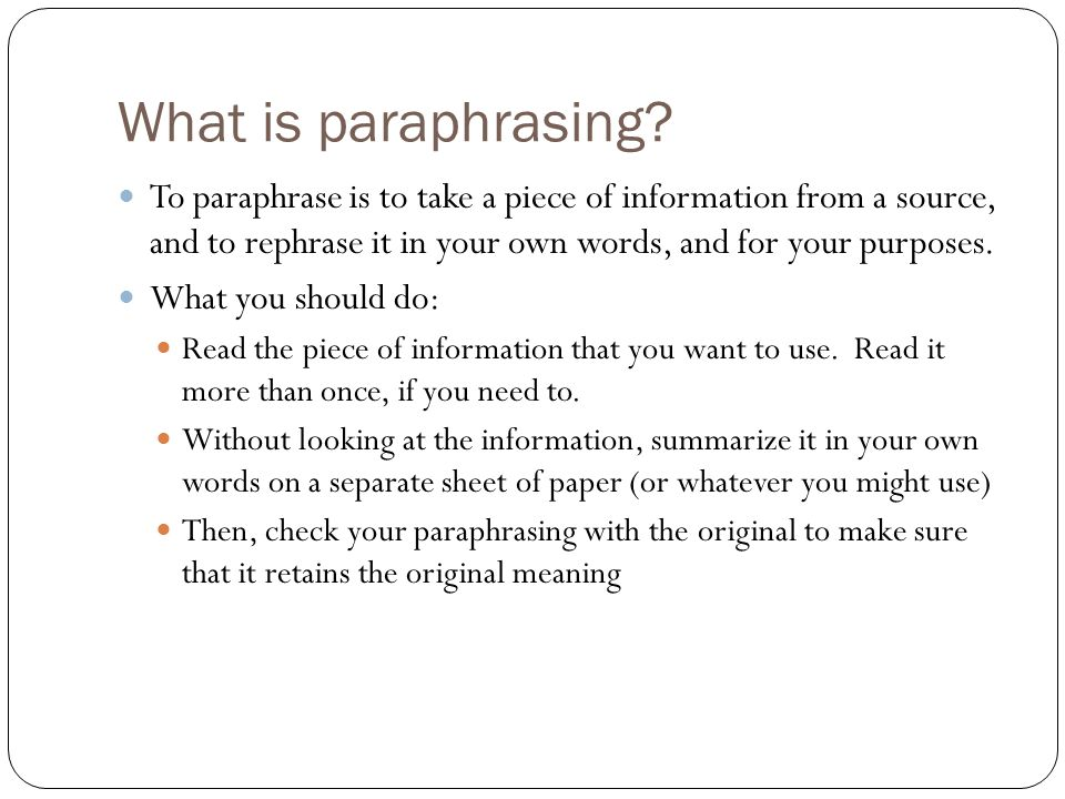 Paraphrasing Essay Paraphrasing Essay How To Cite An Essay In Mla