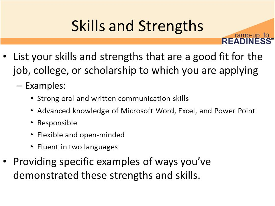 Resume Key Strengths