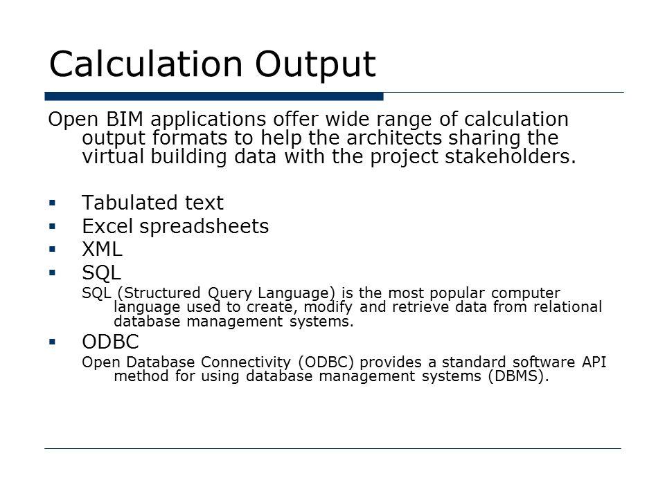 Calculation BIM Curriculum 07. Topics  Calculation with BIM ...