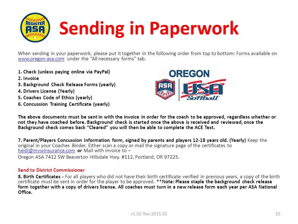 HOW TO REGISTER A TEAM – Oregon ASA Version 1.04 Rev Season 1v1.04 ...