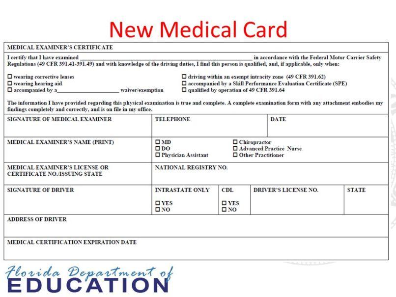 Self Certification Dot Medical Card Colorado | Ziesite.co