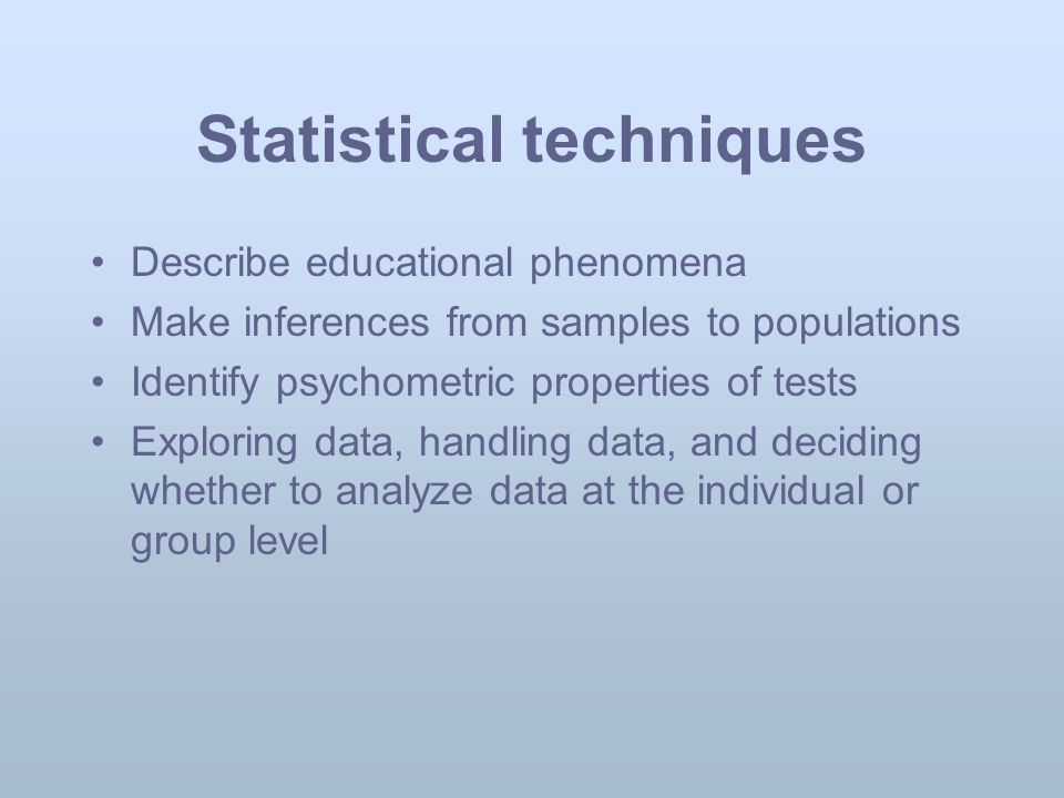 Quantitative Research Design And Statistical Analysis Ppt Download