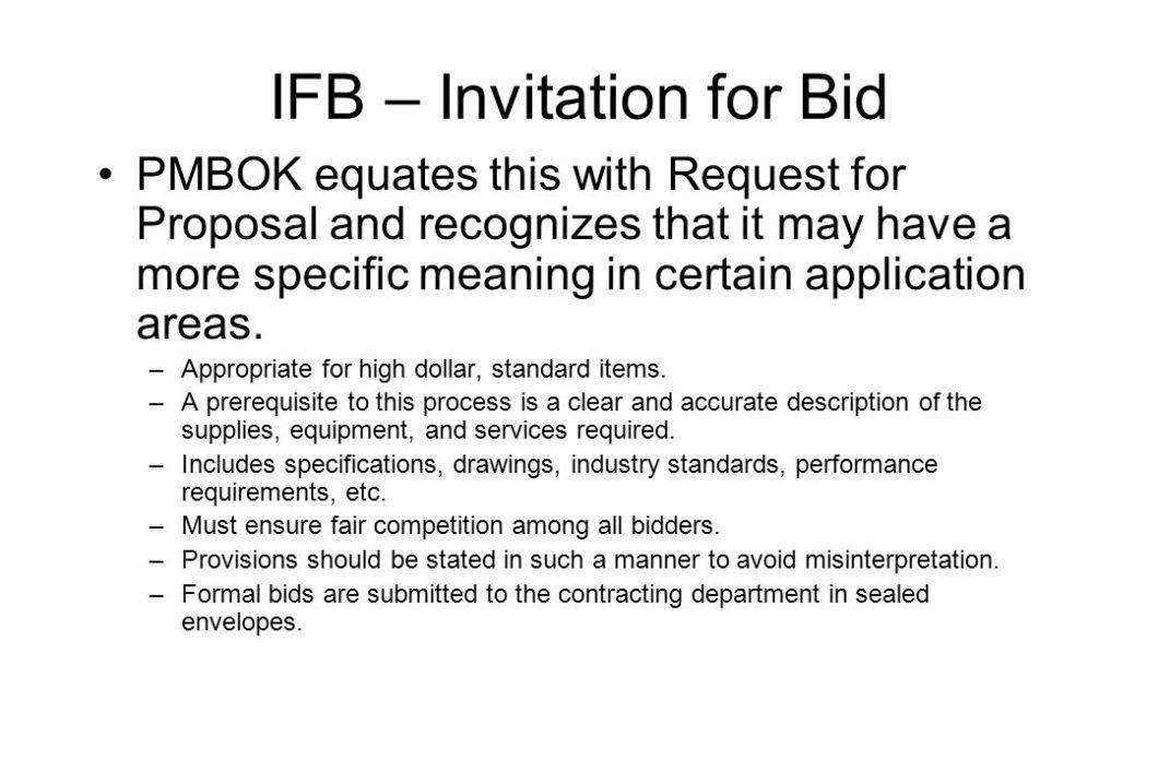 What does invitation to bid means rezzasite advanced project management procurement contract stopboris Choice Image