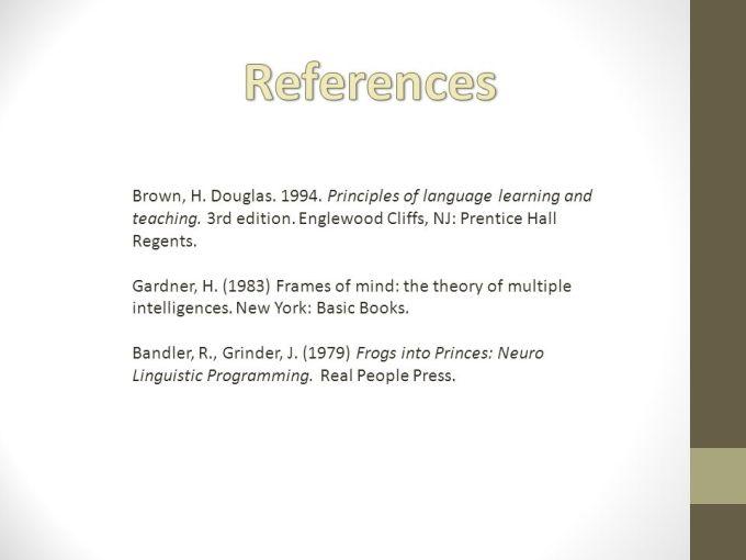 Gardner Frames Of Mind 1983 Citation | Framesite.co