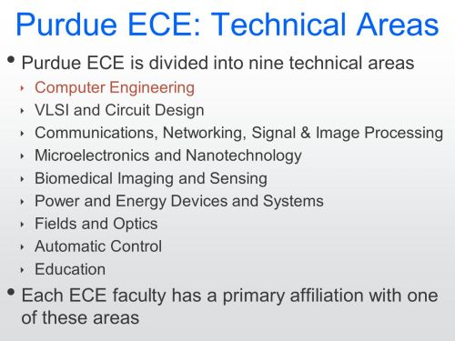 small resolution of 2 purdue ece technical areas purdue ece is divided into nine technical areas computer engineering vlsi and circuit design communications networking