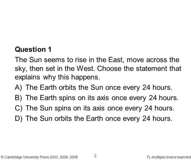 Cambridge University Press 2003 2006 L Multiple Choice Main Test 2 Question