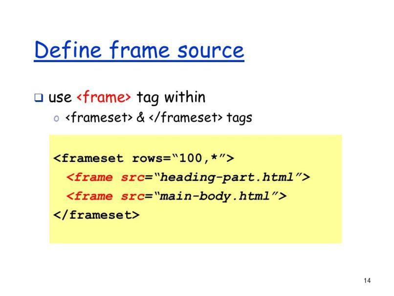 Charmant Html Frames Ppt Bilder - Benutzerdefinierte Bilderrahmen ...