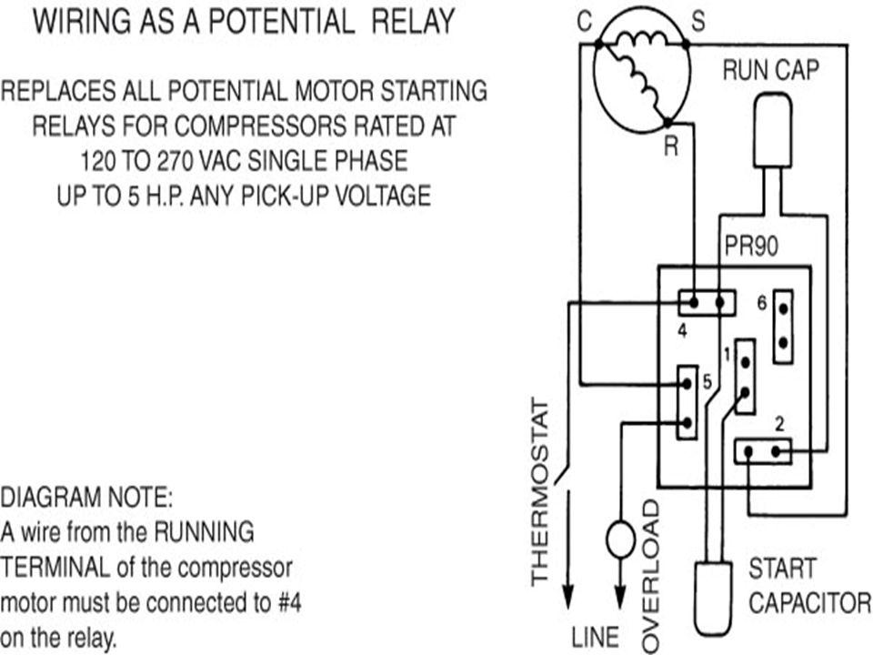 Capacitor Start Capacitor Run Motor Relay