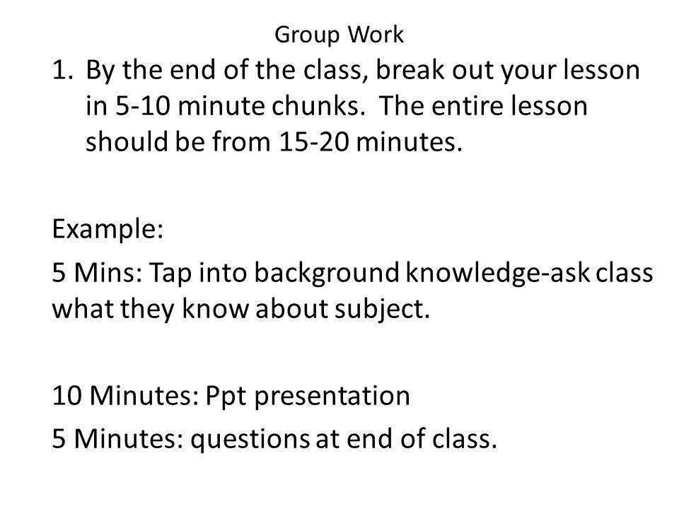 5 Minute Speech Examples