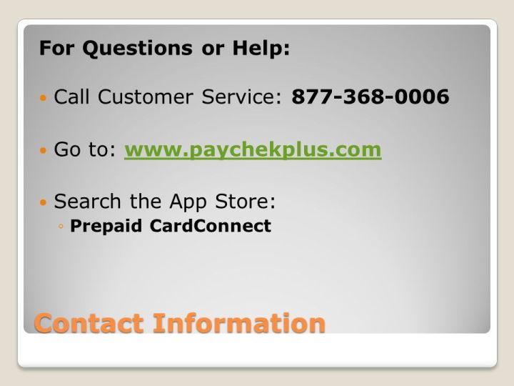 paychekplus customer service Paychekplus Elite Visa Payroll Card Customer Service Phone Number ...