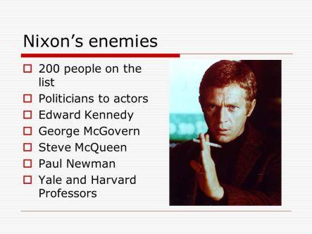 Image result for nixon's enemies list