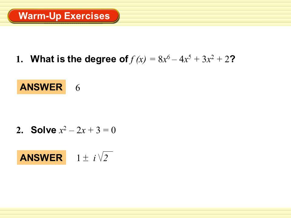 warm up exercises 1