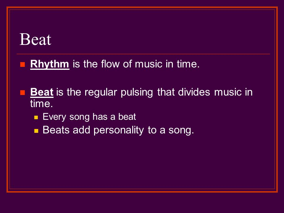 elements of music beat