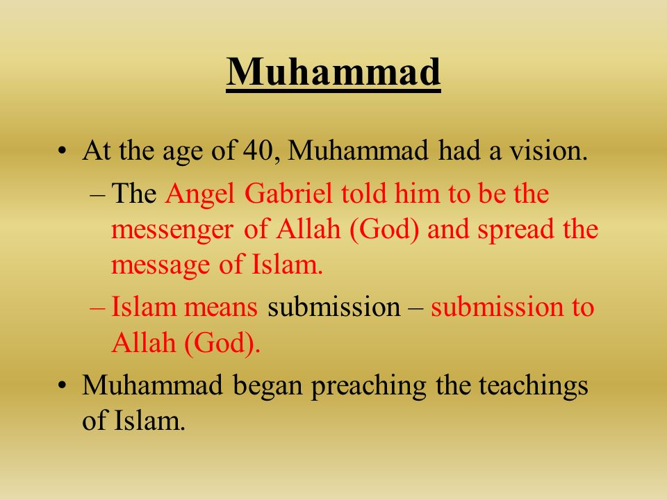 Image result for muhammad was a prophet, submission of Allah