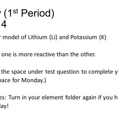 monday 1 st period 12 14 draw a bohr model of lithium  [ 1280 x 720 Pixel ]
