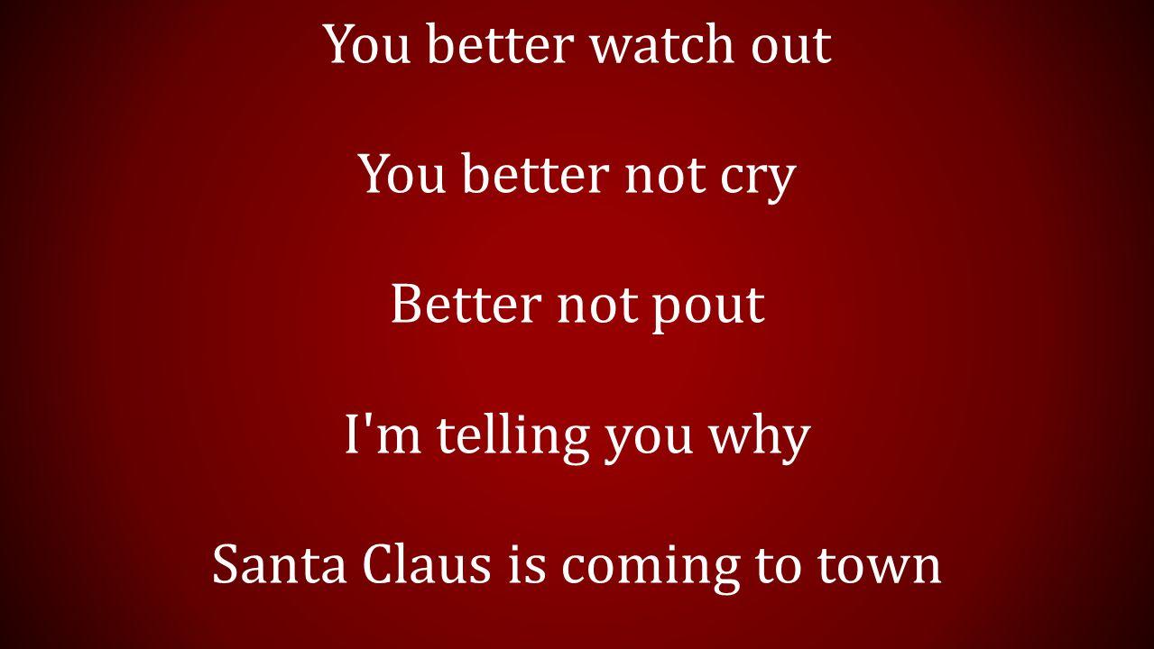 listen quietly santa claus