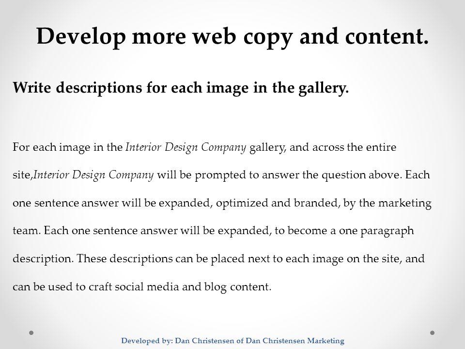 Digital Marketing Plan For Interior Design Company A 6 Month